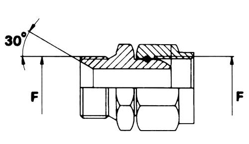 ADMFG Adattatore maschio svasato / femmina girevole gas