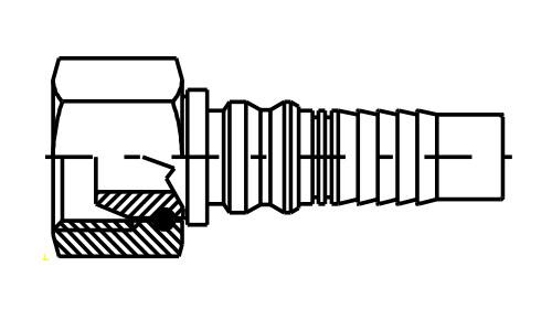 Femmina Interlock GAS 60° DKOR IL
