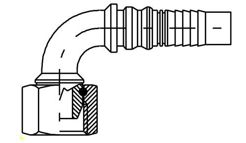 Femmina 90° Interlock DKOR 90 IL