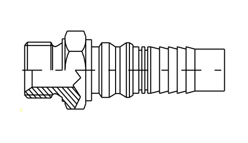 Maschio Cilindrico Interlock GAS 60°