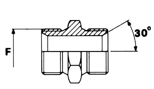 CIS/CIS maschio svasato/ maschio svasato filettatura gas