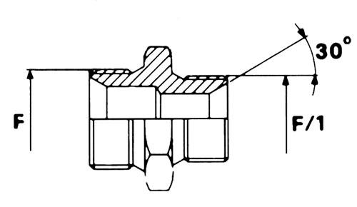 CIS/CIS nipplo riduzione maschio svasato/ maschio svasato filettatura gas
