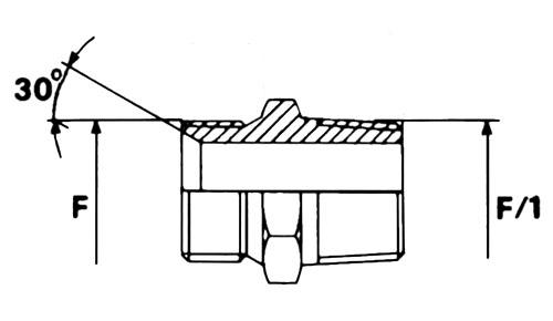 CIS/COP maschio svasato/ maschio gas conico