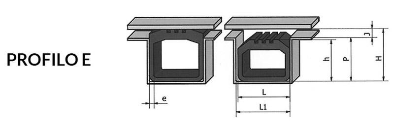 Disegno tecnico guarnizioni gonfiabili - Profilo e